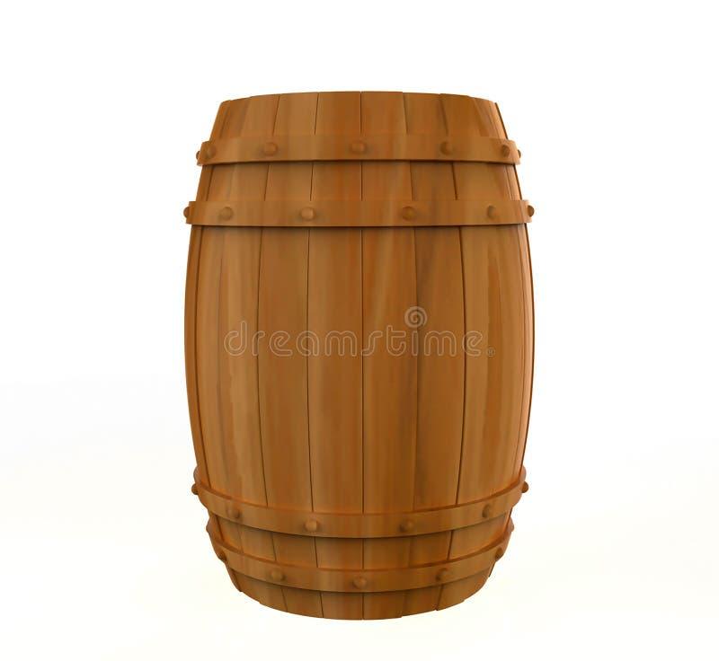 Baril d'alcool, conteneur de boissons illustration stock