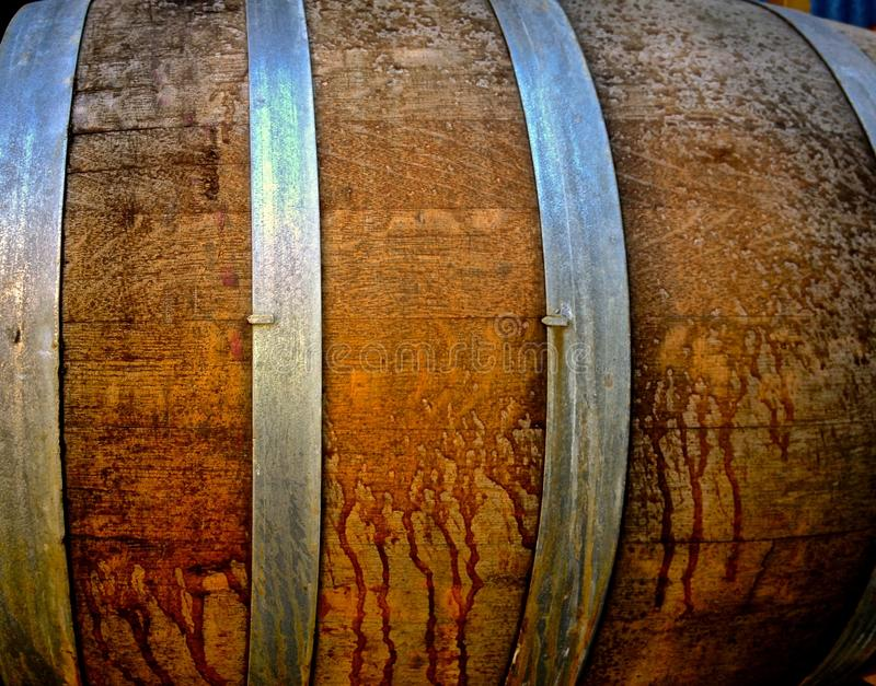 Baril de chêne pour la bière de fermentation images stock