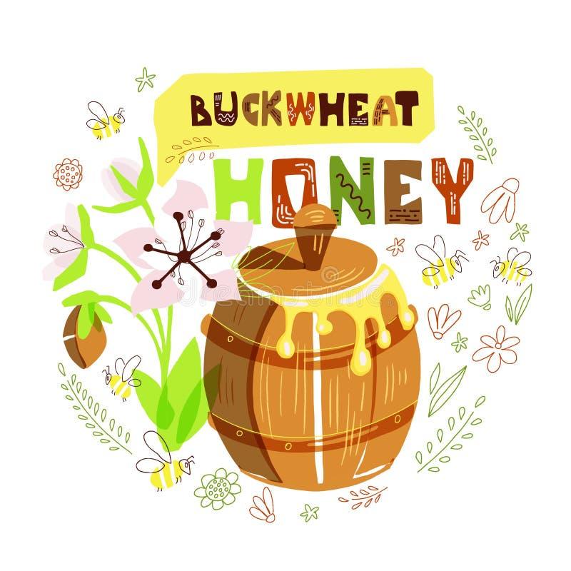 Baril de miel illustration libre de droits