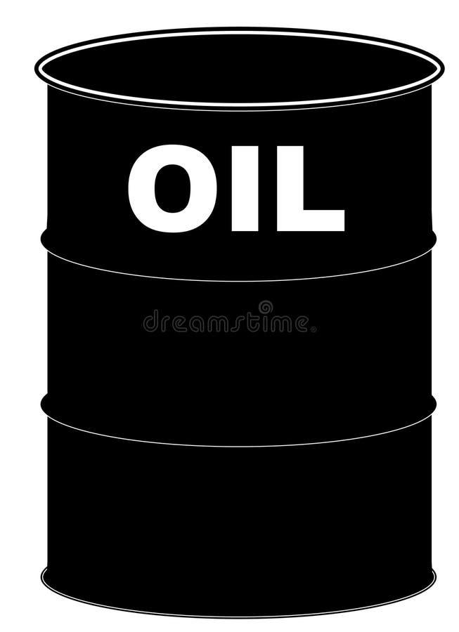 Baril de pétrole illustration stock