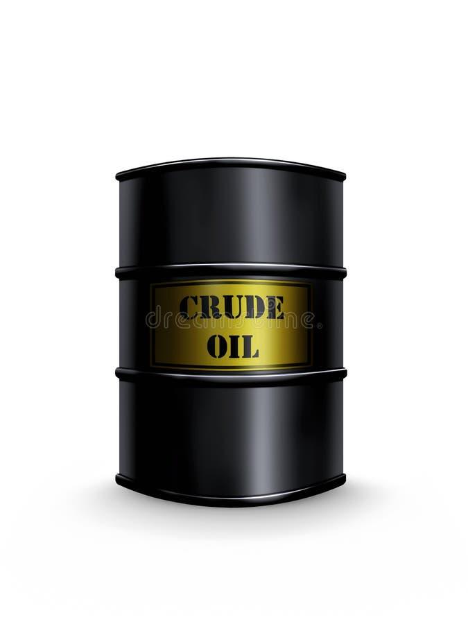 Baril de pétrole brut illustration de vecteur