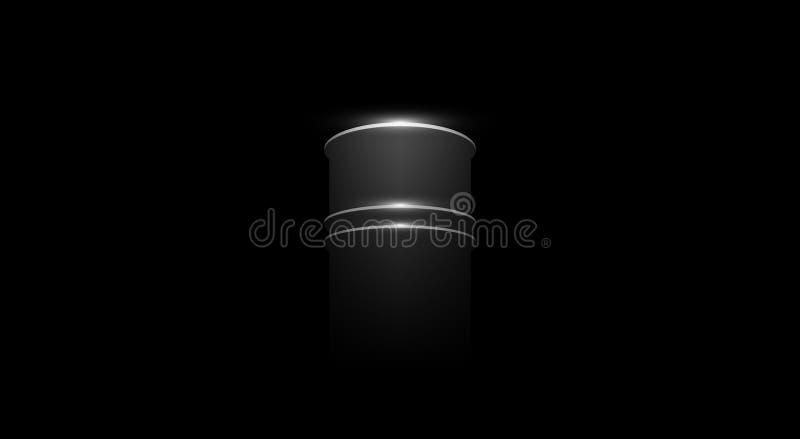 Baril de pétrole de vecteur illustration stock