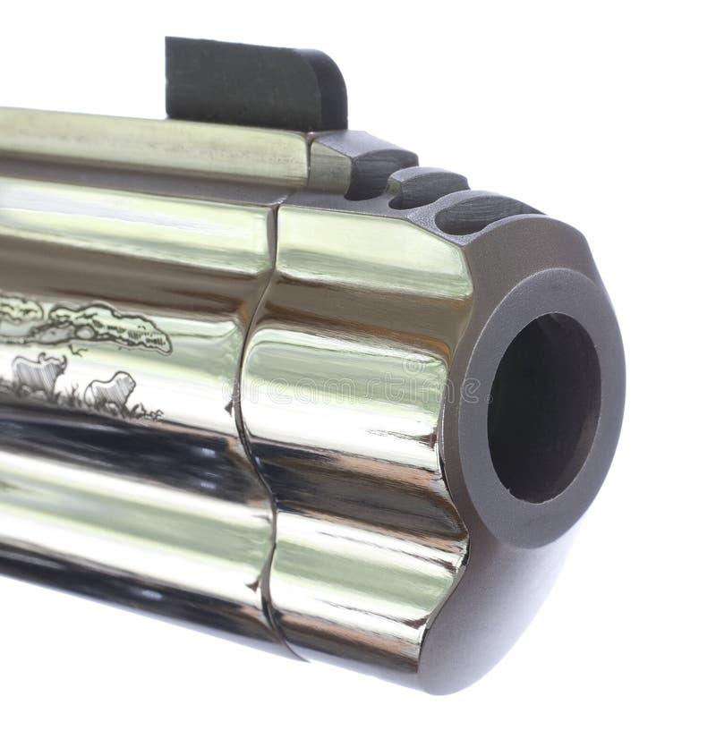 Baril de pistolet de chrome image stock