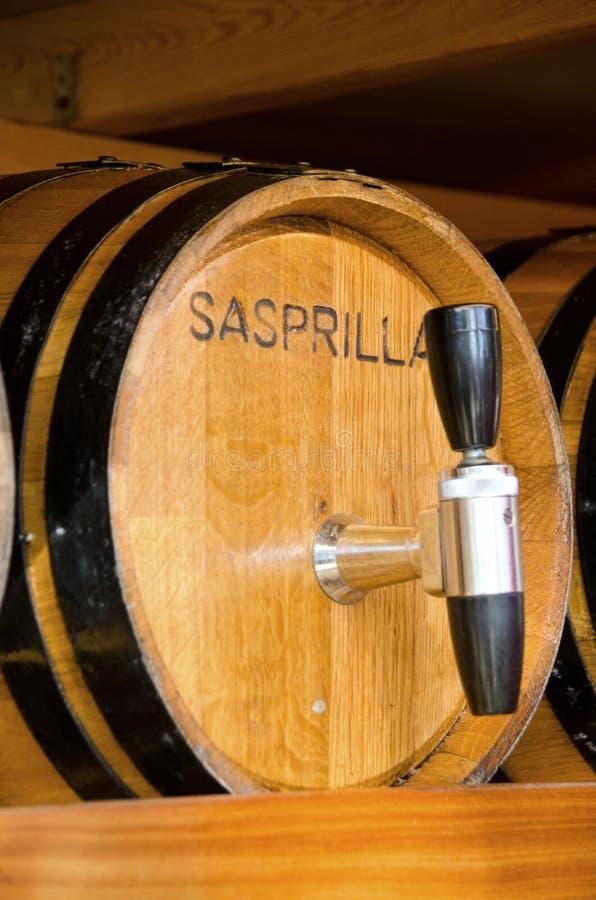 Baril de Sassparilla image stock