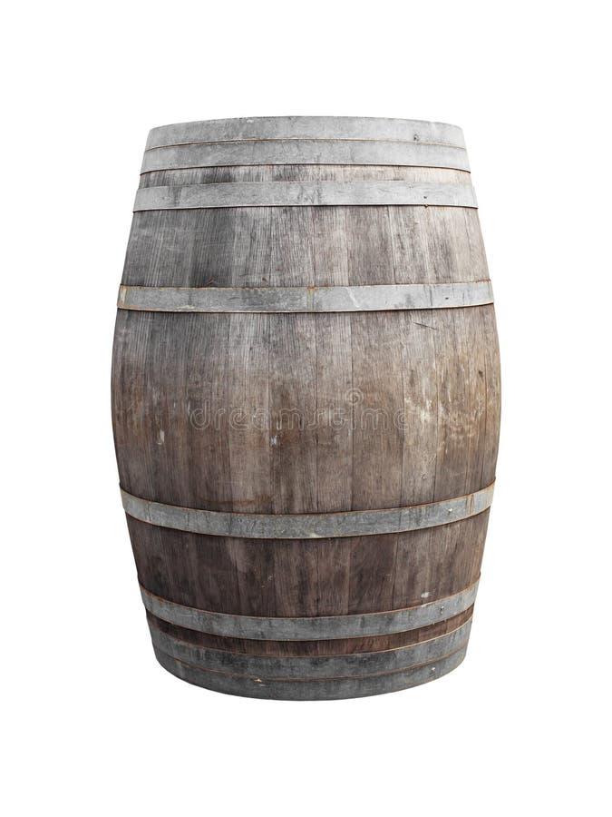 Baril de vin sur le blanc image libre de droits