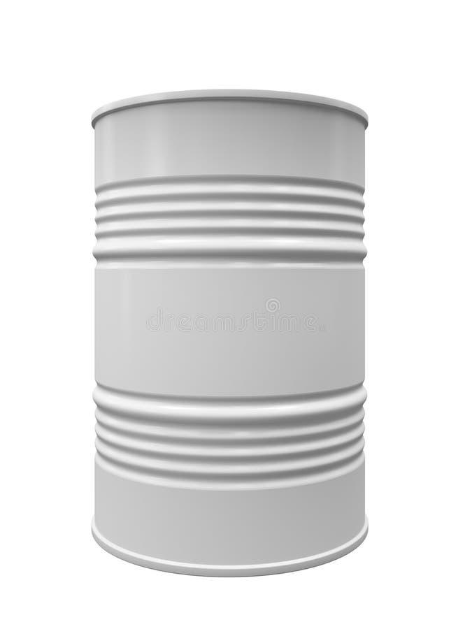 Baril en métal d'isolement illustration stock