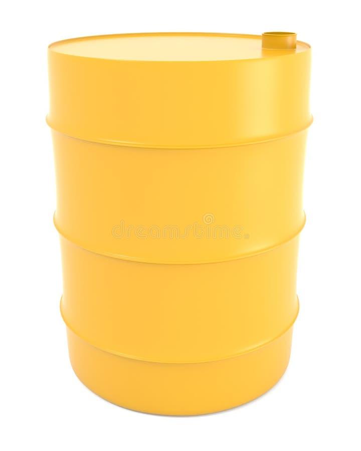 Baril jaune illustration stock