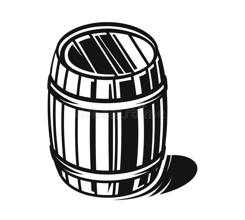 Baril noir de vecteur illustration libre de droits