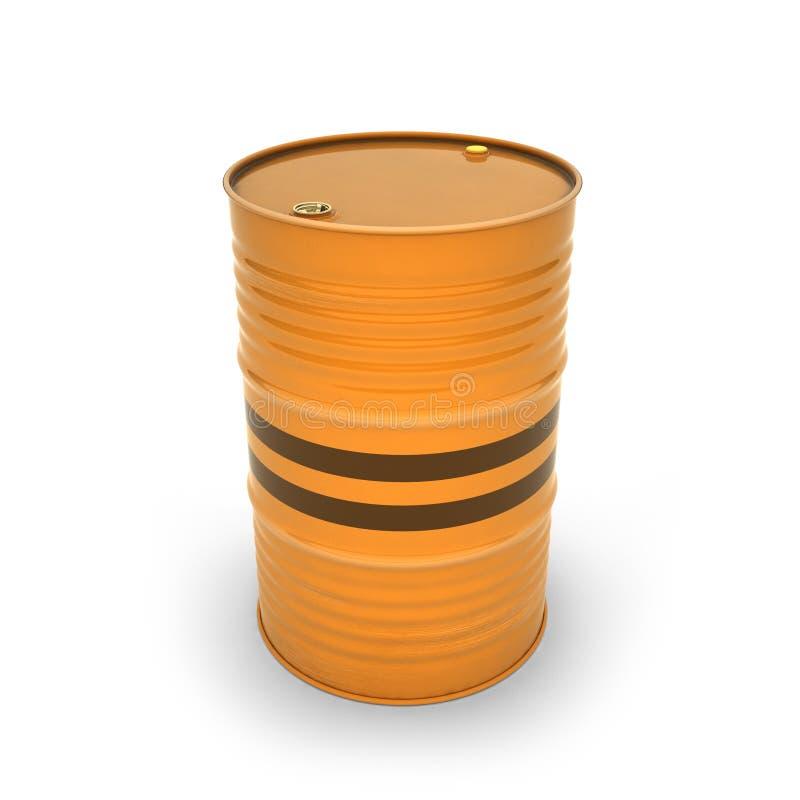 Baril orange sur un fond blanc illustration libre de droits