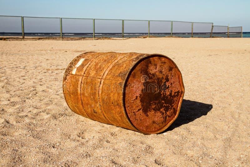 barile da olio vuoto fotografia stock libera da diritti