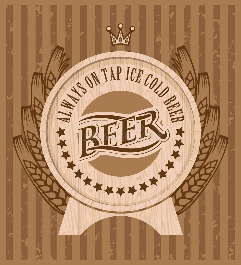Barile di birra illustrazione vettoriale