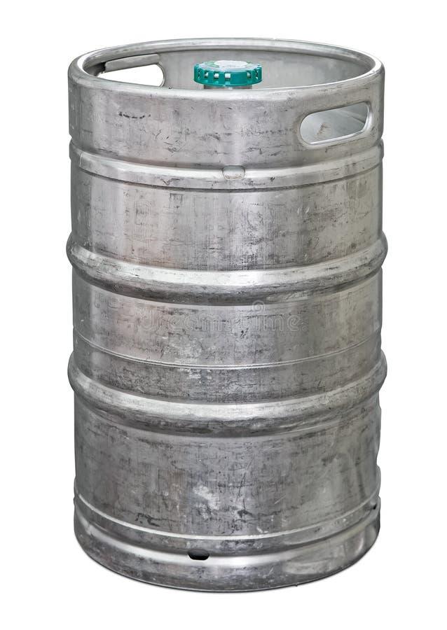 Barillet de bière en métal images libres de droits