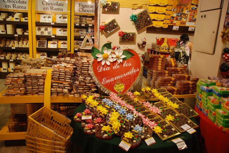 bariloche巧克力存储 免版税库存照片