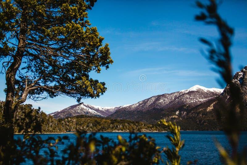 Bariloche阿根廷湖,在巴塔哥尼亚的室外风景 库存图片