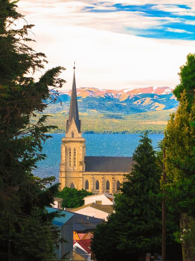 Bariloche domkyrka royaltyfria bilder