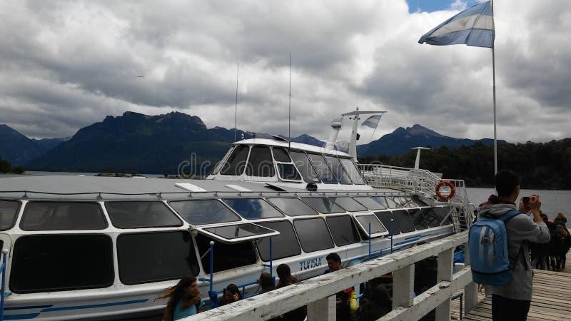 Bariloche. Hermosa vista desde un catamaran stock photos