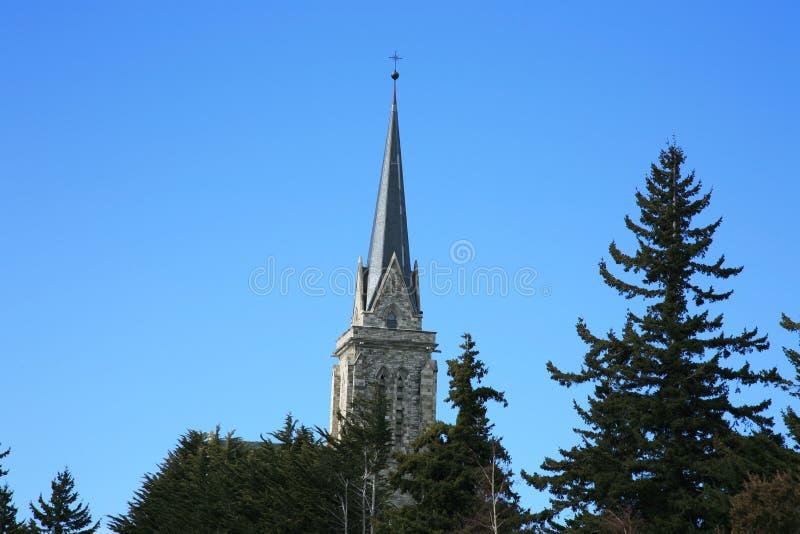Bariloche Kathedrale lizenzfreie stockbilder