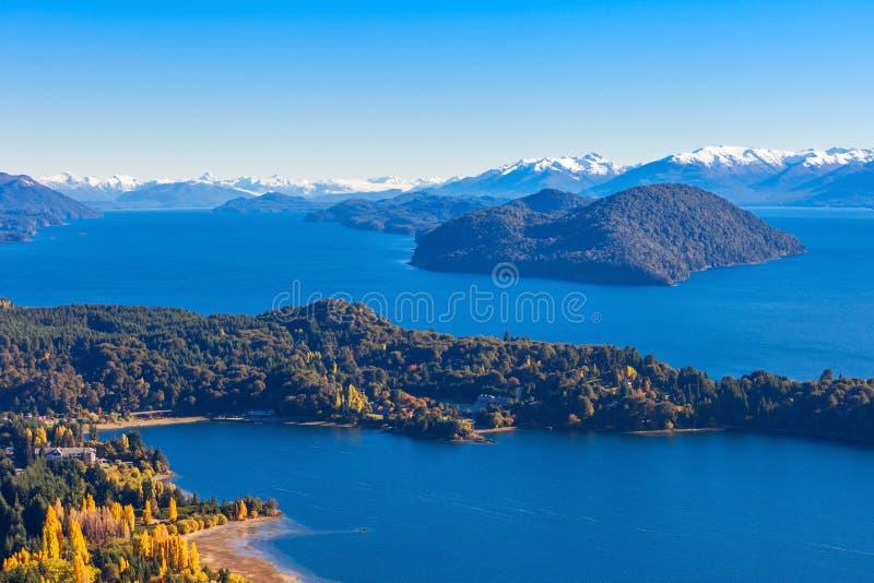 Bariloche landscape in Argentina stock photography