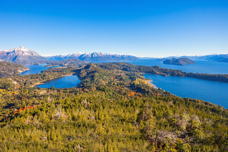 Bariloche landscape in Argentina royalty free stock photography
