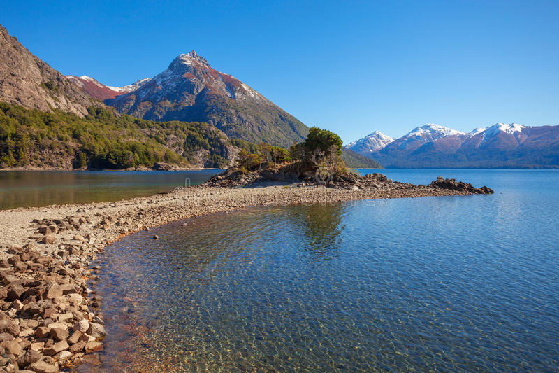 Barilochelandschap in Argentinië royalty-vrije stock foto's