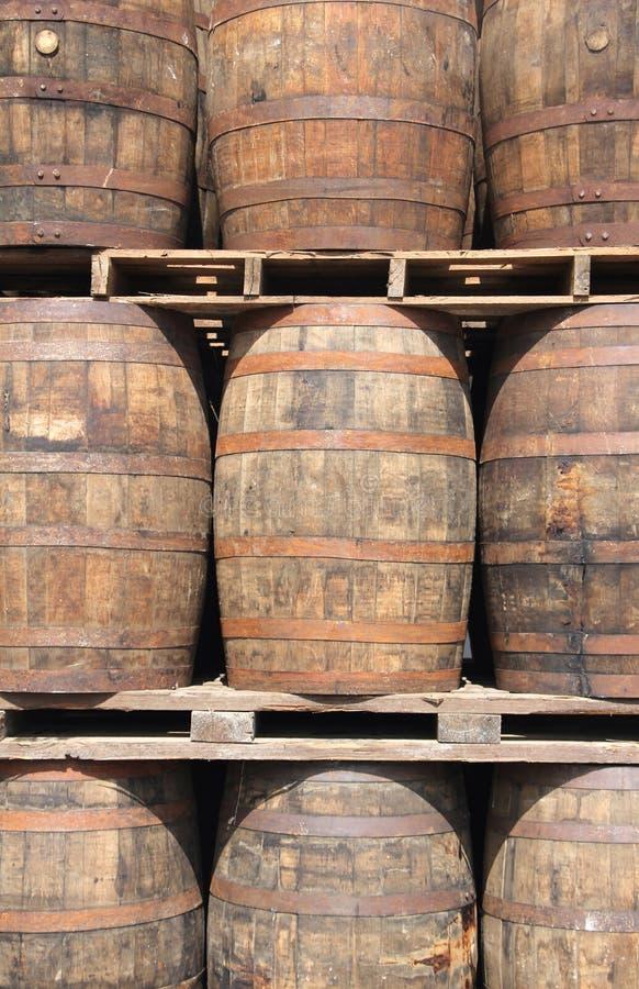 Barilotti del rum fotografia stock