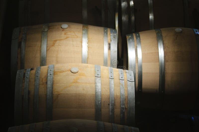 Barilotti di vino fotografia stock libera da diritti