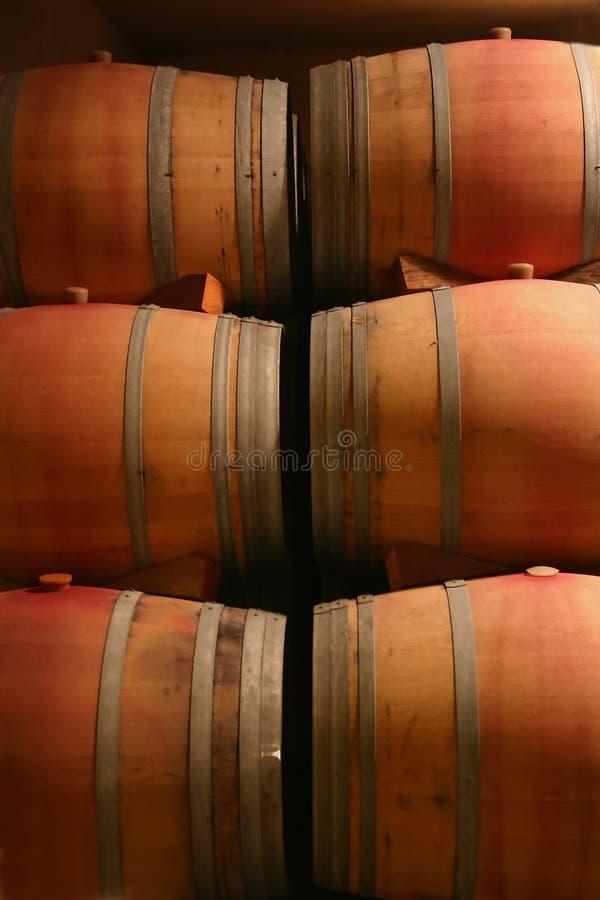 Barilotti di vino immagini stock