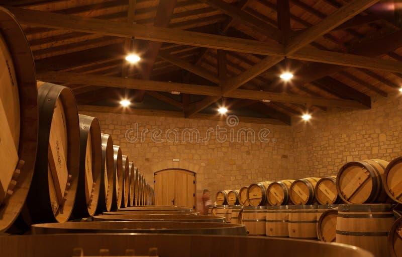Barilotti di vino della quercia, La Rioja immagine stock libera da diritti