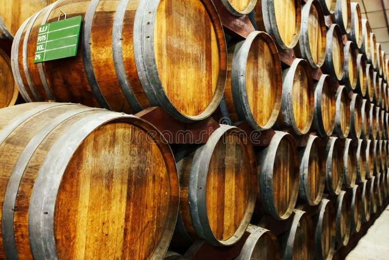 Barilotti per stoccaggio del Calvados fotografia stock libera da diritti