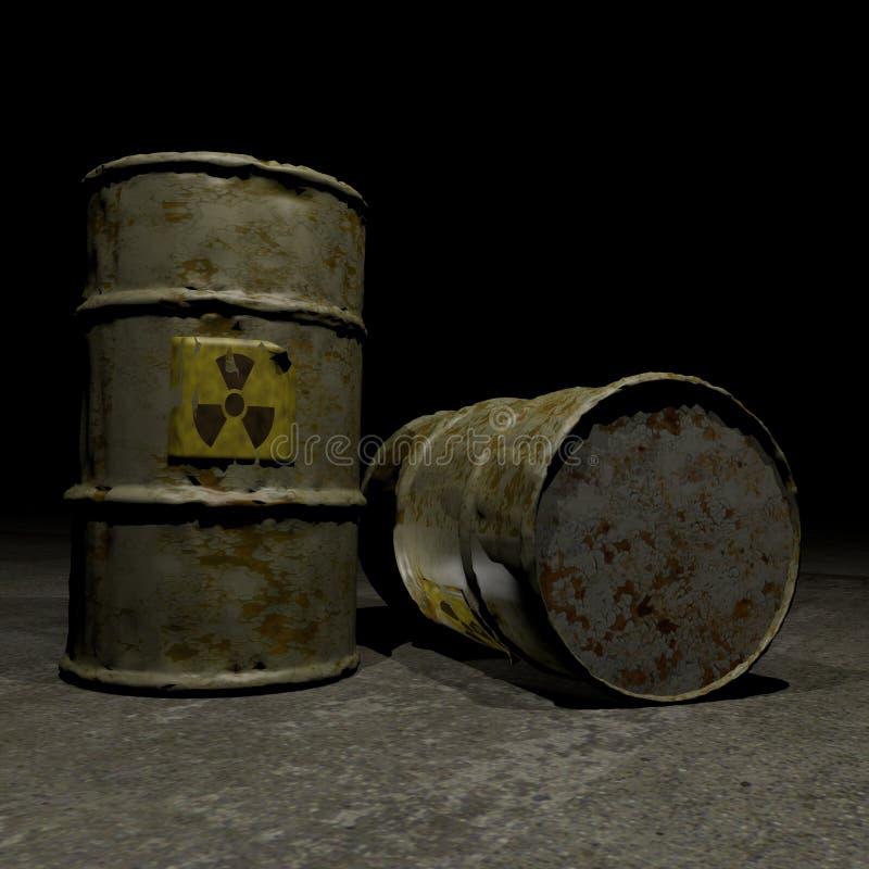 Barilotti radioattivi royalty illustrazione gratis