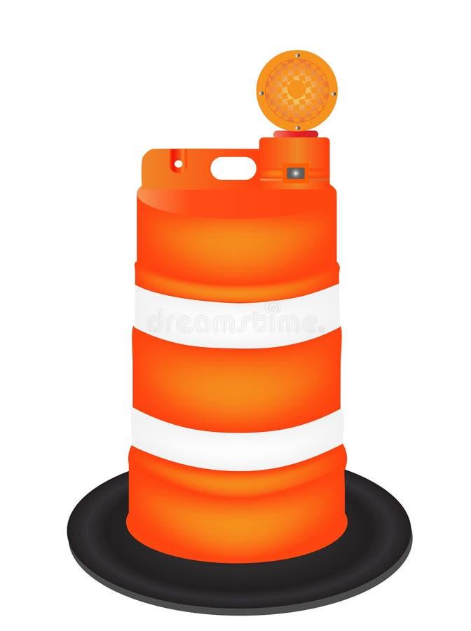Barilotto arancione illustrazione vettoriale