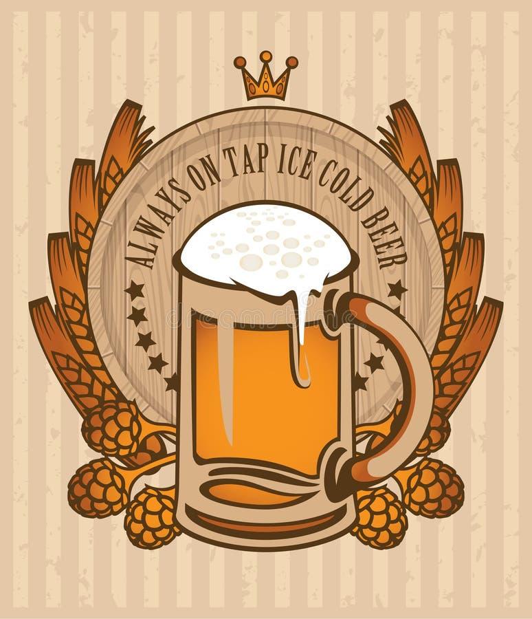Barilotto di birra royalty illustrazione gratis