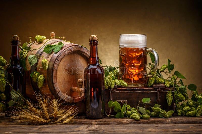 Barilotto di birra d'annata fotografia stock