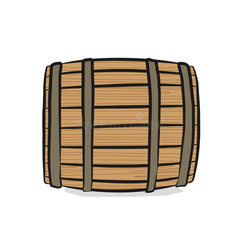 Barilotto di legno royalty illustrazione gratis