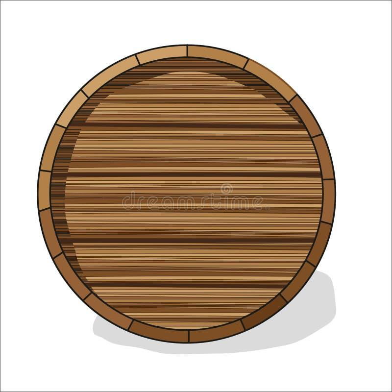 Barilotto di legno con le fibre royalty illustrazione gratis