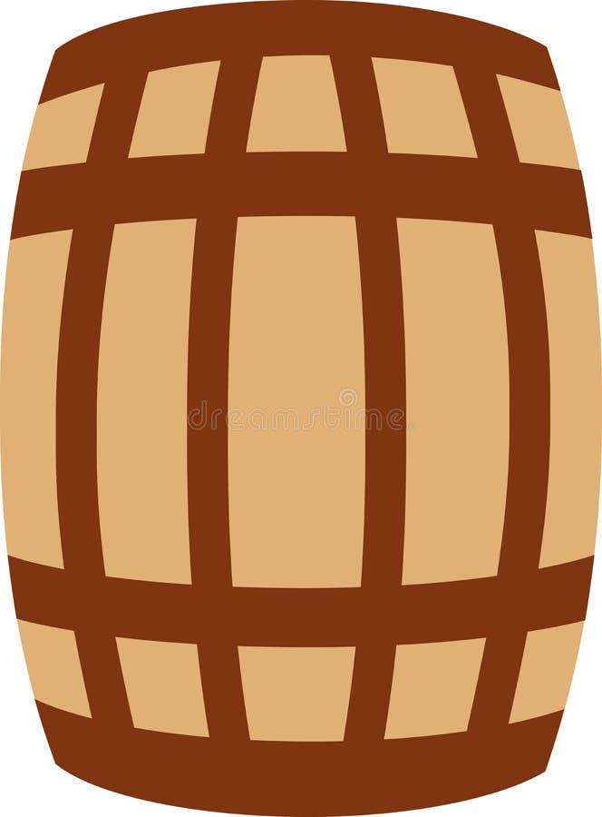Barilotto di legno della quercia illustrazione vettoriale