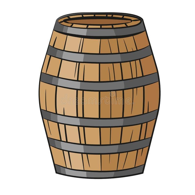 Barilotto di legno due illustrazione di stock