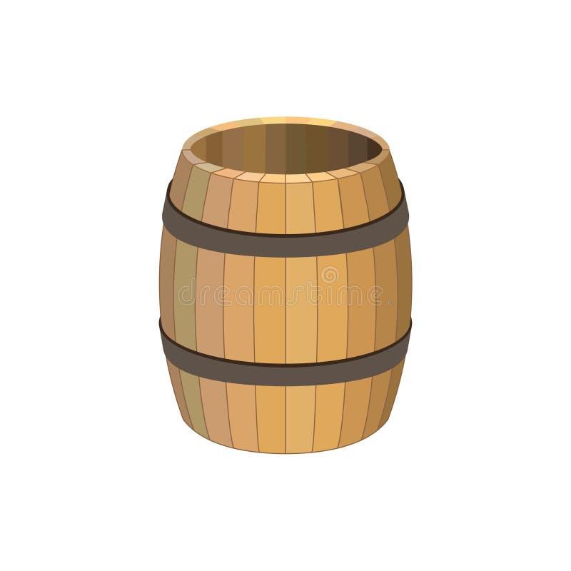 Barilotto di legno vuoto royalty illustrazione gratis