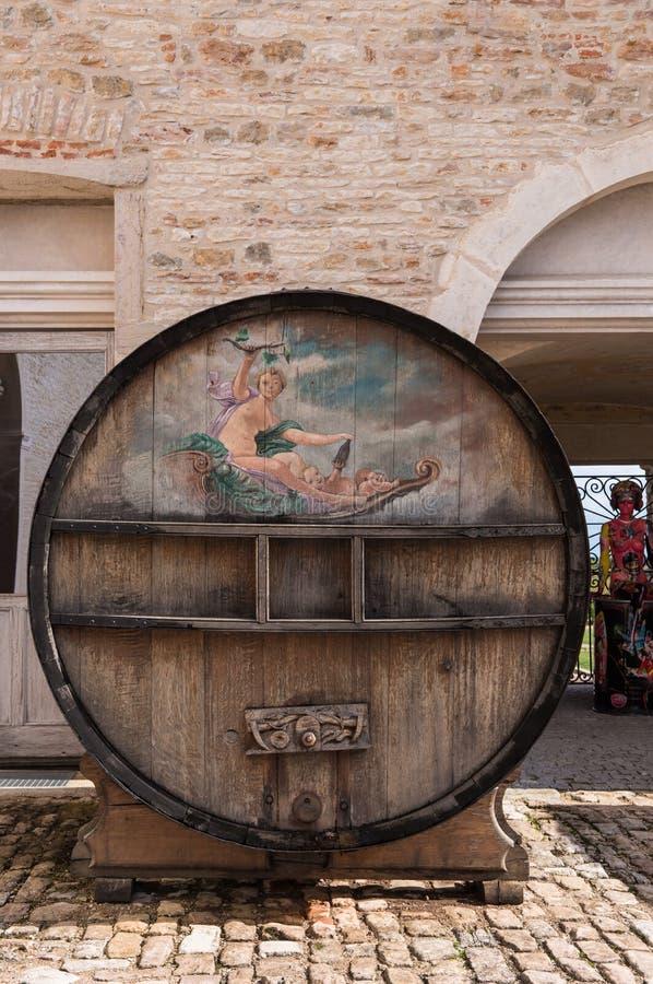 Barilotto di vino dell'annata immagine stock