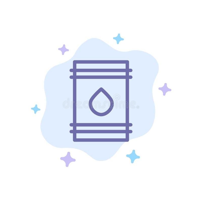 Barilotto, olio, combustibile, flamable, icona blu di Eco sul fondo astratto della nuvola royalty illustrazione gratis