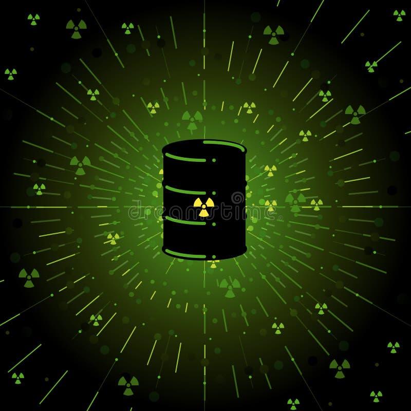 Barilotto radioattivo fotografia stock