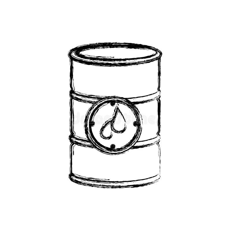 barilotto vago del petrolio della siluetta con l'etichetta royalty illustrazione gratis