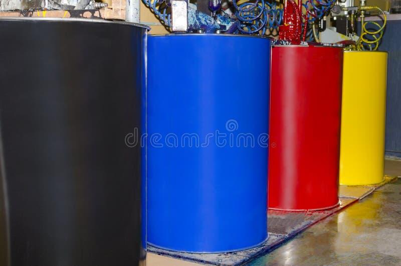 Barils de module chargeable de couleur de CMYK photo libre de droits