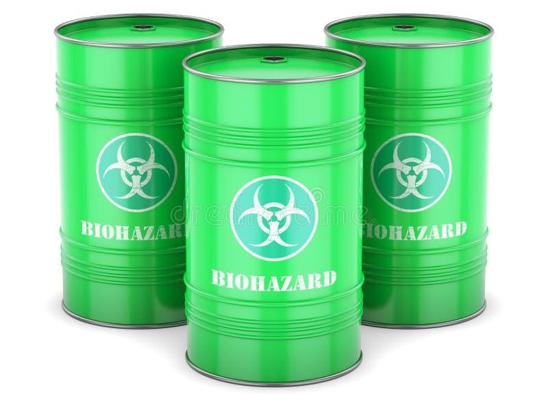 Barils de rebut de Biohazard illustration stock