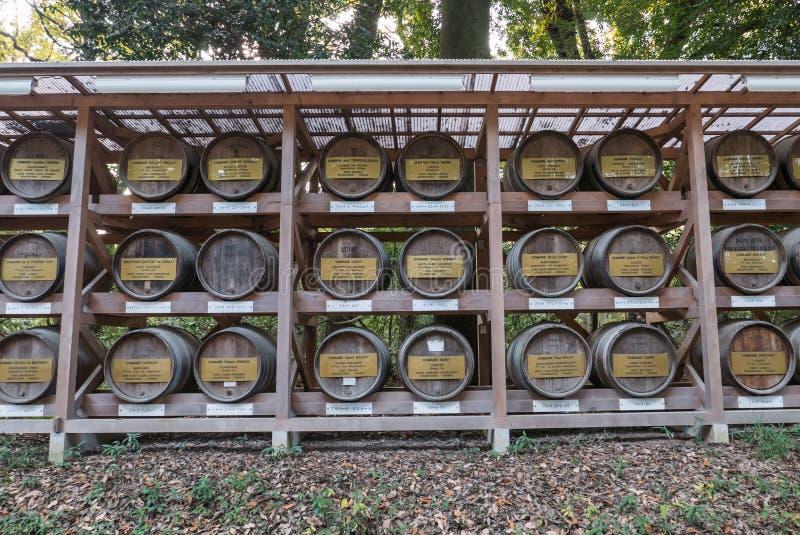 Barils de saké image stock