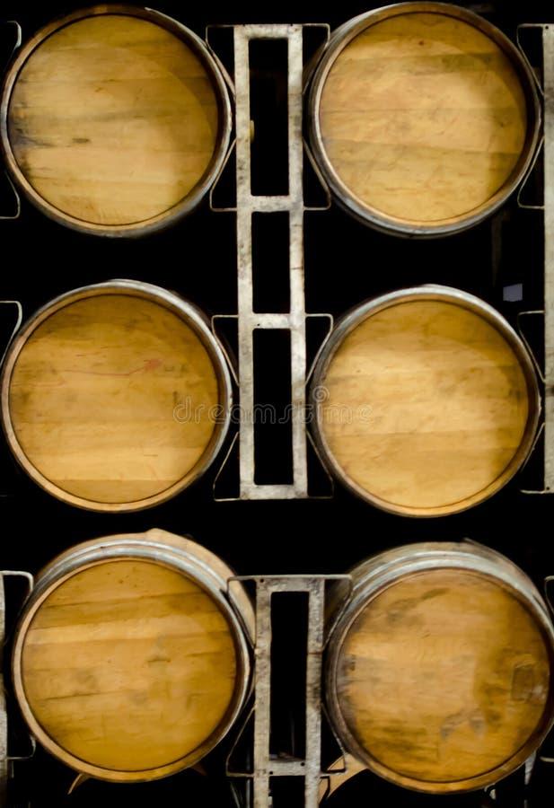 Barils en bois de vin ou de whiskey images libres de droits