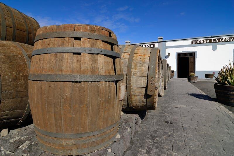 Barils pour le vin image stock