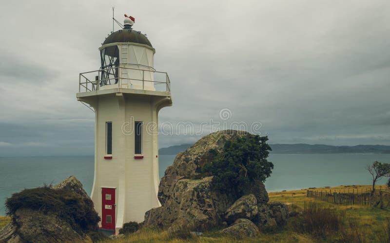 Baring Head Lighthouse. Wellinghton, New Zealand stock image