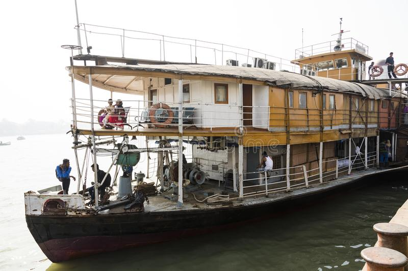 Barisal, Bangladesh, February 27 2017: View of the bow and first class of The Rocket ship. Barisal, Bangladesh, February 27 2017: View of the bow and first class royalty free stock photo