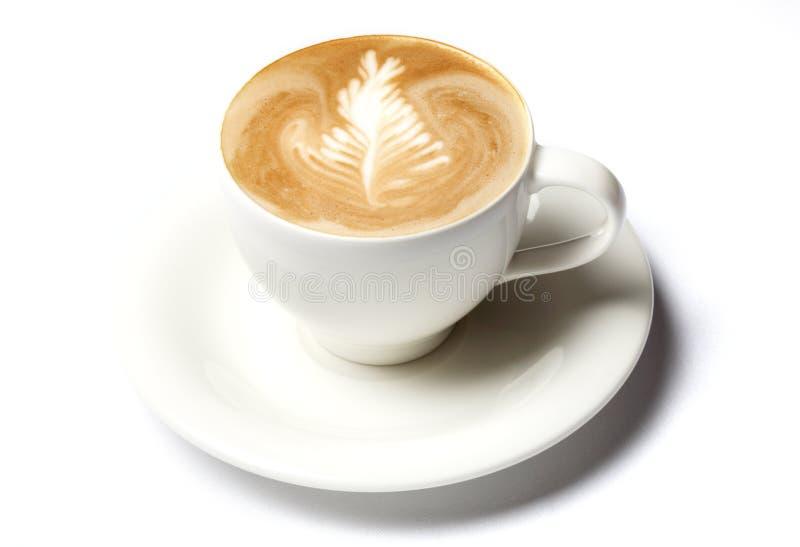 barista咖啡杯查出在白色 免版税库存图片